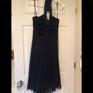 Navy blue dress with jewels
